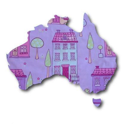 Australia Map pin board  - 'chalet'