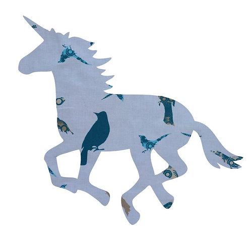 Unicorn or horse pin board - 'teal birds'
