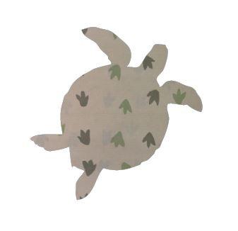 Turtle pin board - 'dino tracks'
