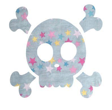 Skull & Crossbones pin board - 'twinkle'