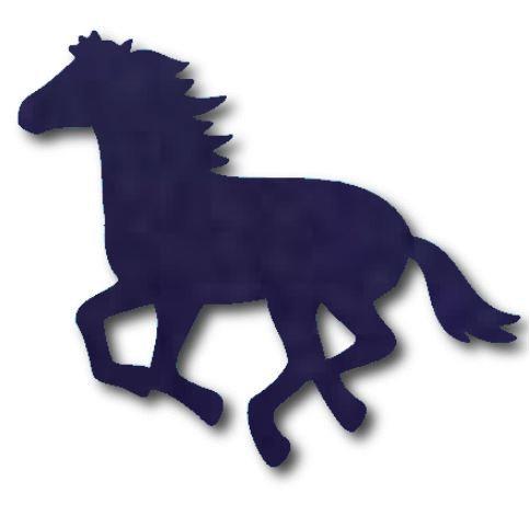 Unicorn or horse pin board - 'navy'
