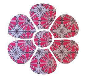 Flower pin board - 'pink daisy'