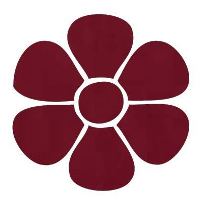 Flower pin board - 'burgundy'