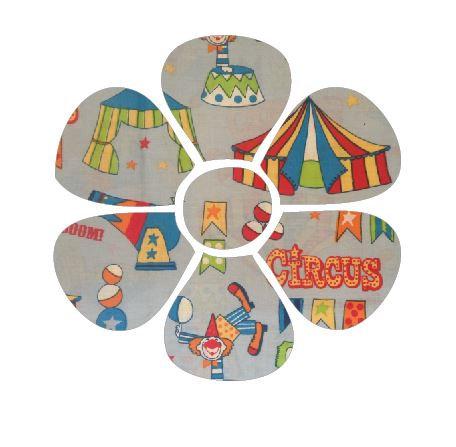 Flower pin board - 'circus'