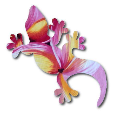 Gecko pin board - 'franjipani'