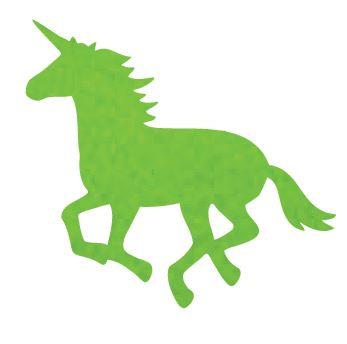 Unicorn or horse pin board - 'lime'