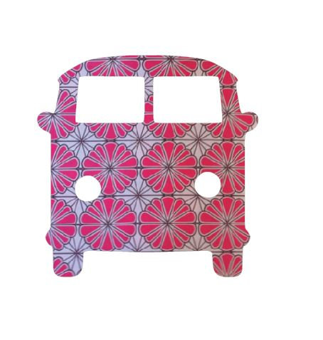 Kombi pin board - 'pink daisy'