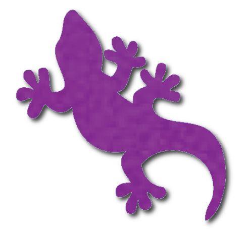 Gecko pin board - 'purple'