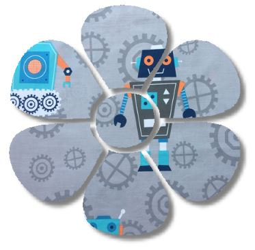 Flower pin board - 'rob the robot'