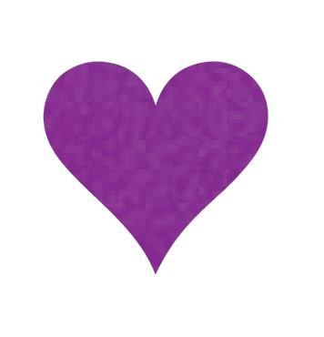 Heart pin board - 'purple'