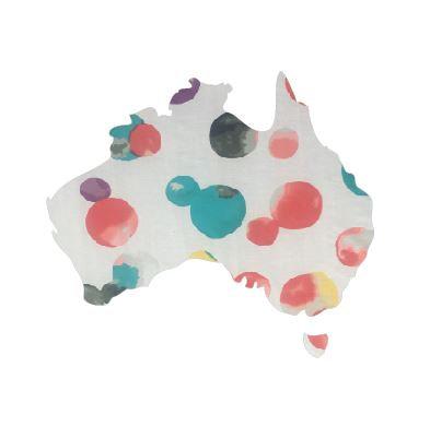 Australia Map pin board  - 'abstract'