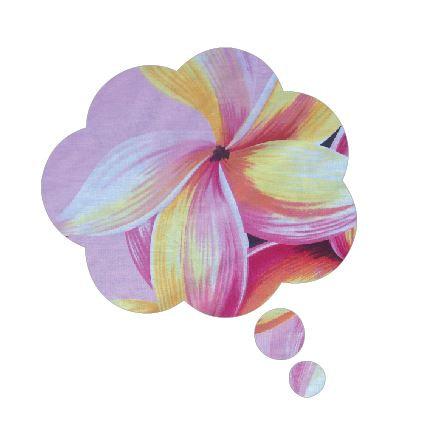 Thought bubble -'franjipani'