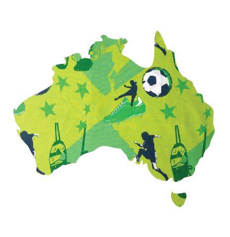 Australia Map pin board  - 'kick it'