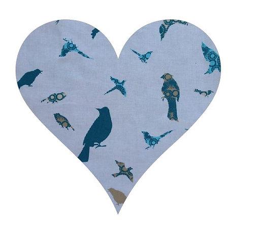 Heart pin board - 'teal birds'