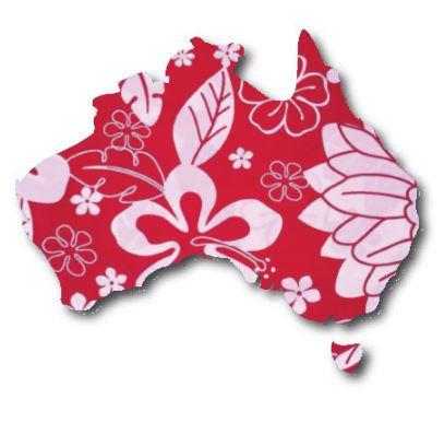 Australia Map pin board  - 'hawaii'