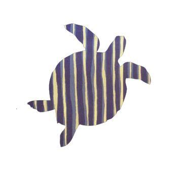 Turtle pin board - 'blue poles'