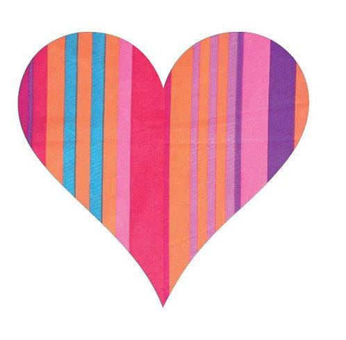 Heart pin board - 'candy cane'