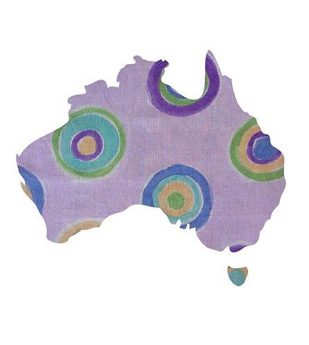 Australia Map pin board  - 'leyla'