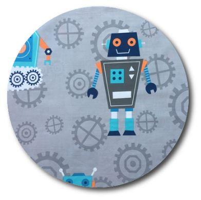 Circle pin board 'rob the robot'