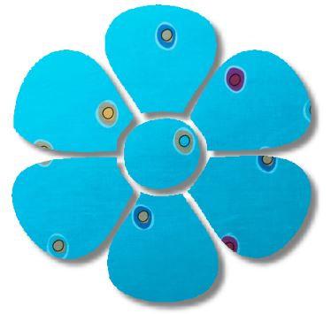 Flower pin board - 'spicks n specks'