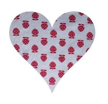 Heart pin board - 'strawberry'
