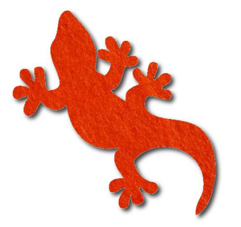 Gecko pin board - 'tangerine'