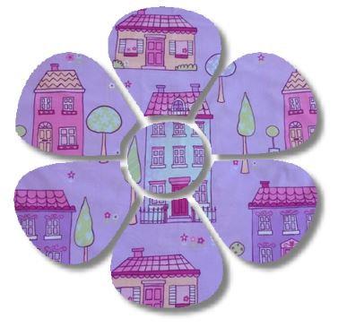 Flower pin board - 'chalet'
