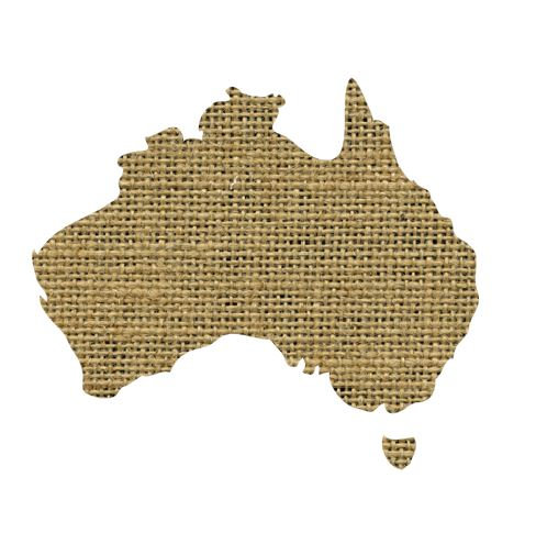 Australia Map pin board  - 'sack'