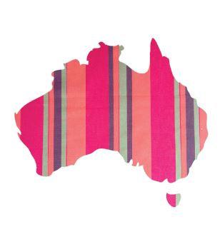 Australia Map pin board  - 'encounter'