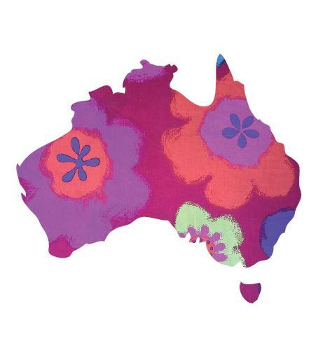 Australia Map pin board  - 'gerby'