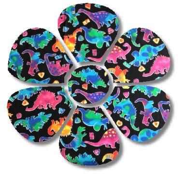 Flower pin board - 'disco dino'