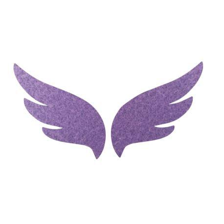 Pair of wings pin board 'mauve'