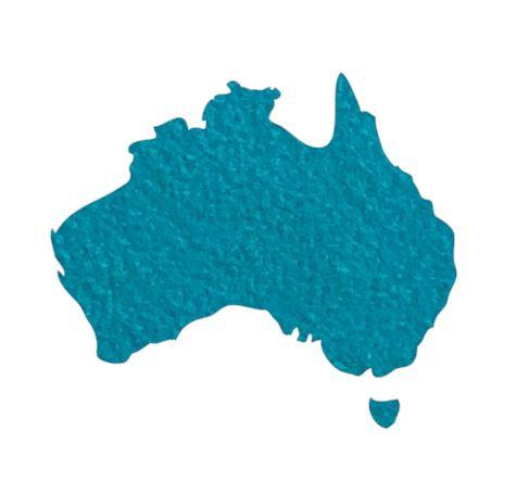 Australia Map pin board  - 'teal'