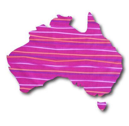 Australia Map pin board  - 'candy'