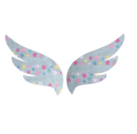 Pair of wings pin board 'twinkle'