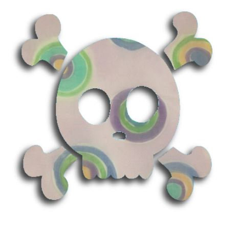 Skull & Crossbones pin board - 'lilac b'