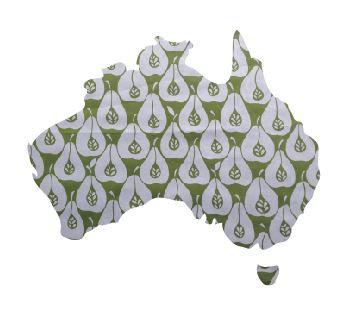Australia Map pin board  - 'pear party'