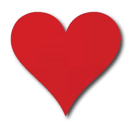 Heart pin board - 'red'