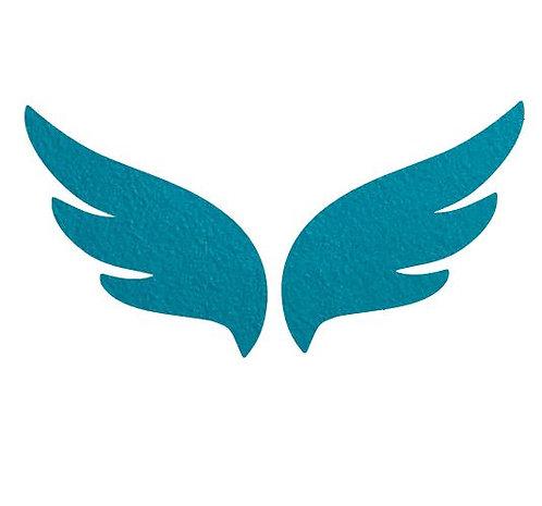 Pair of wings pin board 'teal'