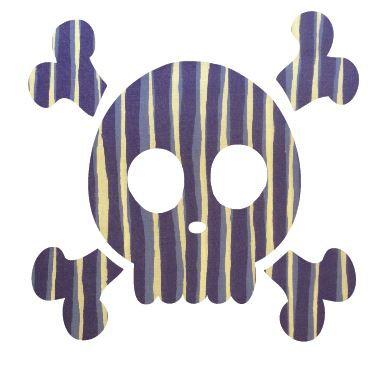 Skull & Crossbones pin board - 'blue poles'