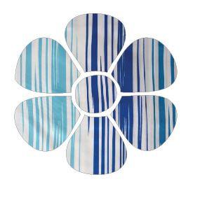 Flower pin board - 'blue streak'