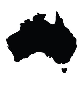 Australia Map pin board  - 'black'