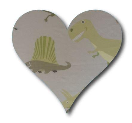 Heart pin board - 'dinosaurs alive'