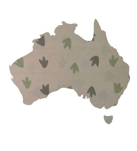 Australia Map pin board  - 'dino tracks'