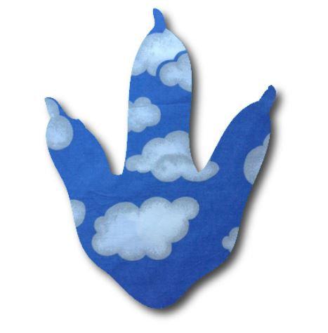 Dinosaur Foot - blue yonder