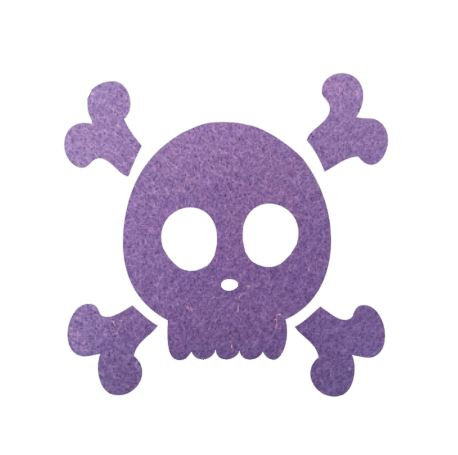 Skull & Crossbones pin board - 'mauve'