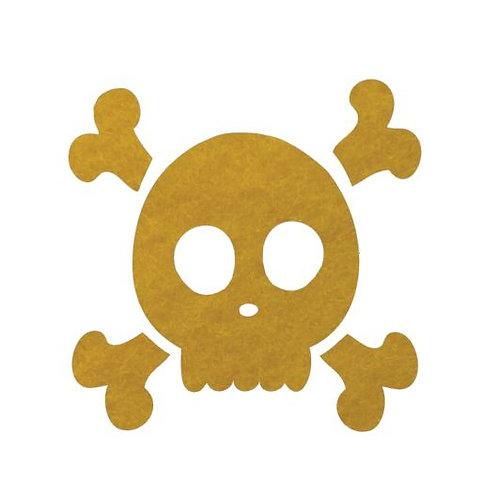 Skull & Crossbones pin board - 'yellow'