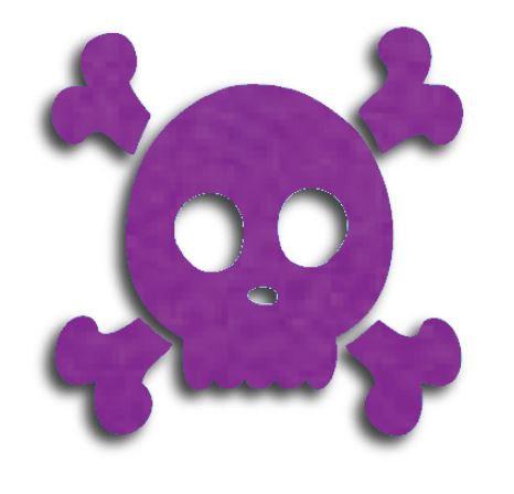 Skull & Crossbones pin board - 'purple'