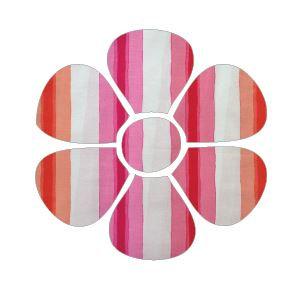 Flower pin board - 'pop stripe'