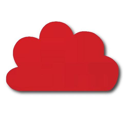 Cloud pin board - 'red'